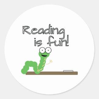 Reading Is Fun! Classic Round Sticker