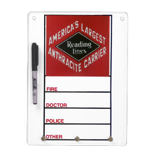 Reading Lines America's Largest Anthracite Carrier Dry Erase Board