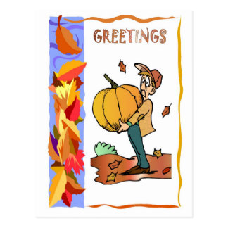 Ready for pumpkin pie postcard