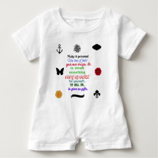 Ready to personalize 20 kids romper baby bodysuit