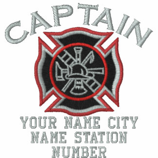 Ready to Personalize Captain Firefighter Badge Polo Shirt