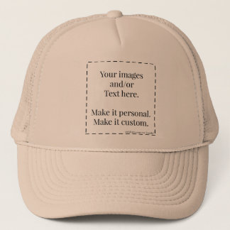 Ready to personalize  Trucker hat Lowest allowable