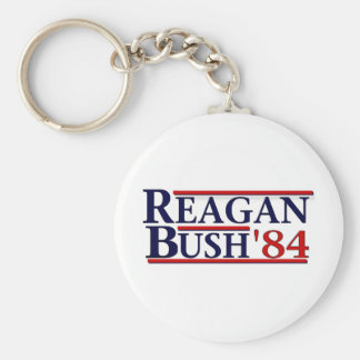Reagan Bush '84 Keychain