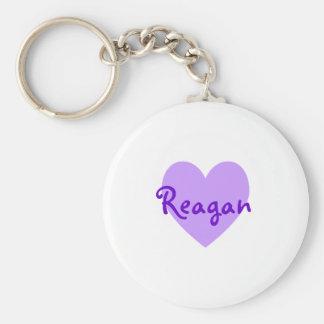 Reagan in Purple Key Ring