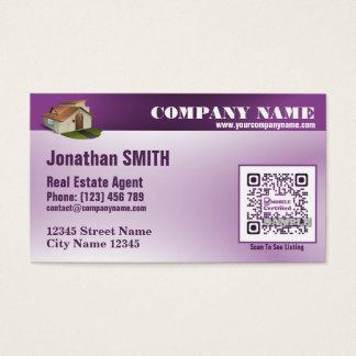 Real estate agent business card with custom QRcode