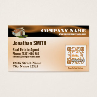 Real estate business card (Custom QR code offered)