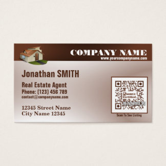 Real estate business card (QR code offered)