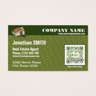 Real estate business card - Tropical design
