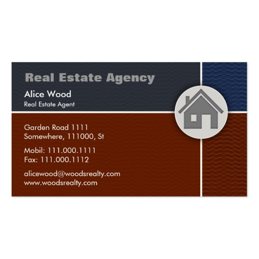 Real Estate   Home Pack Of Standard Business Cards