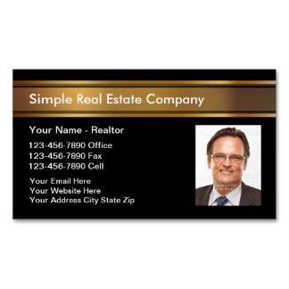 Real Estate Photo Magnetic Business Cards