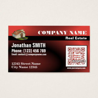 Real Estate – QR code business card – Red (QR476)