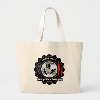 Real Grill is COAL grill Large Tote Bag