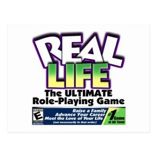 Real Life RPG Postcard