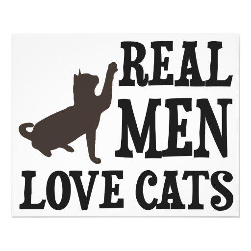 Real Men Love Cats Custom Flyer
