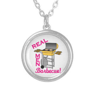 Real Men Round Pendant Necklace