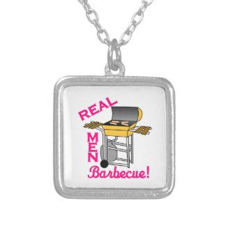 Real Men Square Pendant Necklace