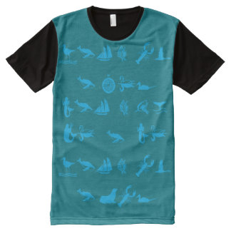 Real One CO. Sea Life All-Over Print T-Shirt