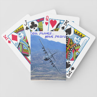 REAL PLANES HAVE PROPS BICYCLE PLAYING CARDS