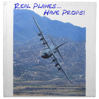 REAL PLANES HAVE PROPS NAPKIN
