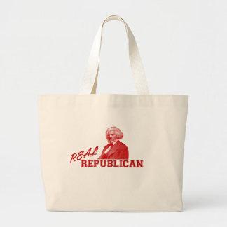 Real Republican, Frederick Douglass Large Tote Bag