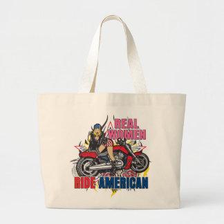 Real Women Ride American Motorcycles Tote Bag