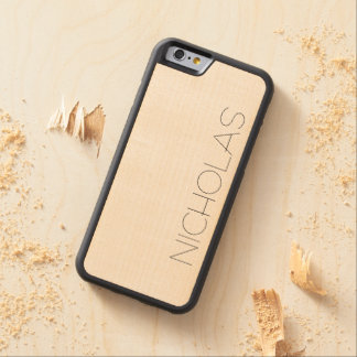 Real Wood Custom Carved Maple iPhone 6 Bumper Case