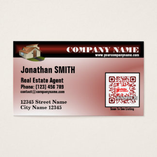 Realtor business card (with custom QR code)