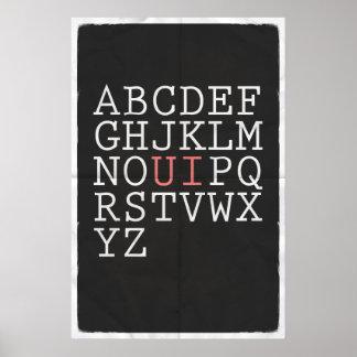 Rearrange The Alphabet Poster