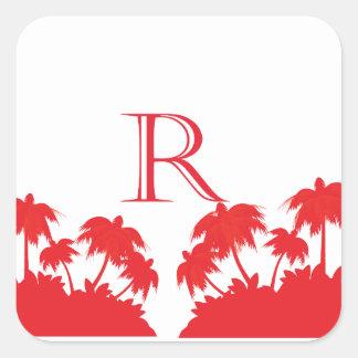 Reas Palm Beach Coral Square Sticker