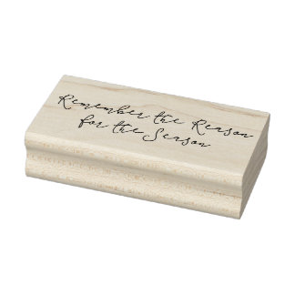 Reason for the Season Christmas Rubber Art Stamp