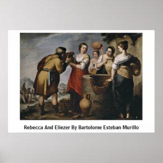 Rebecca And Eliezer By Bartolome Esteban Murillo Poster