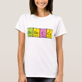 Rebecca periodic table name shirt