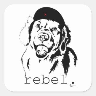 rebel. square sticker