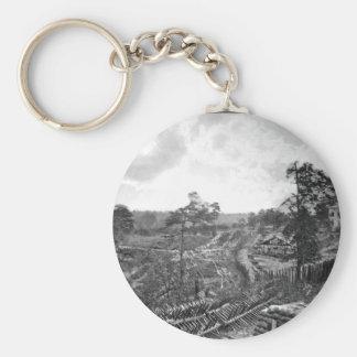 Rebel Works in Front of Atlanta_War Image Key Ring