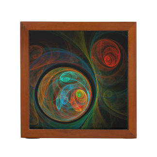 Rebirth Blue Abstract Art Desk Organiser