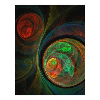 Rebirth Green Abstract Art Flyer