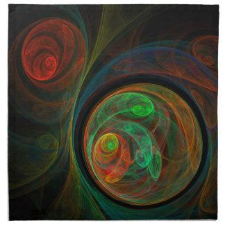 Rebirth Green Abstract Art Napkin