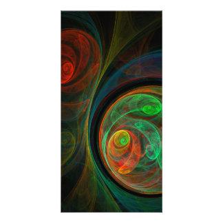 Rebirth Green Abstract Art Photo Card