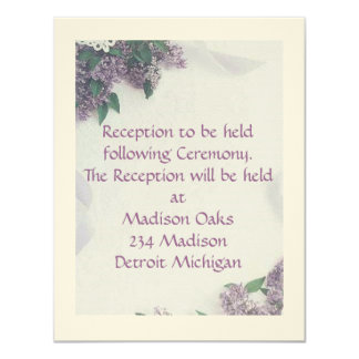 """Reception Card Matches """"Lilacs And Love"""""""