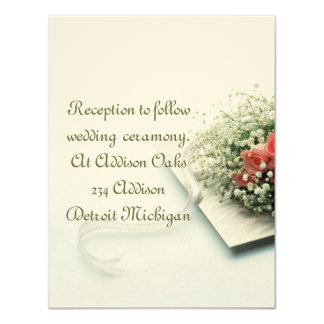 Reception card matching to Wedding Invitation