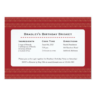 Spoon and fork invitations announcements zazzle nz recipe card utensils red party invitation stopboris Choice Image