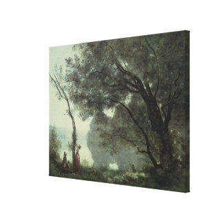 Recollections of Mortefontaine, 1864 Stretched Canvas Print