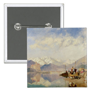 Recollections of the Lago Maggiore, Market Day at 15 Cm Square Badge