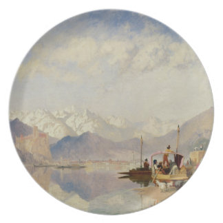 Recollections of the Lago Maggiore, Market Day at Dinner Plate