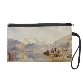 Recollections of the Lago Maggiore, Market Day at Wristlet Clutch