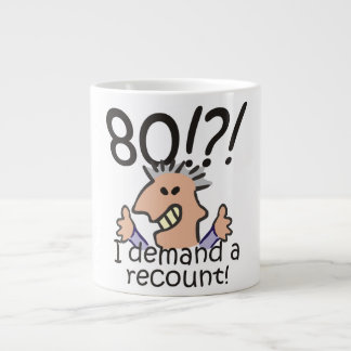 Recount 80th Birthday Large Coffee Mug