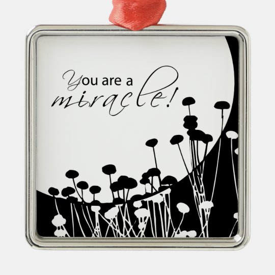 Recovery Miracle, Black and White Christmas Ornament