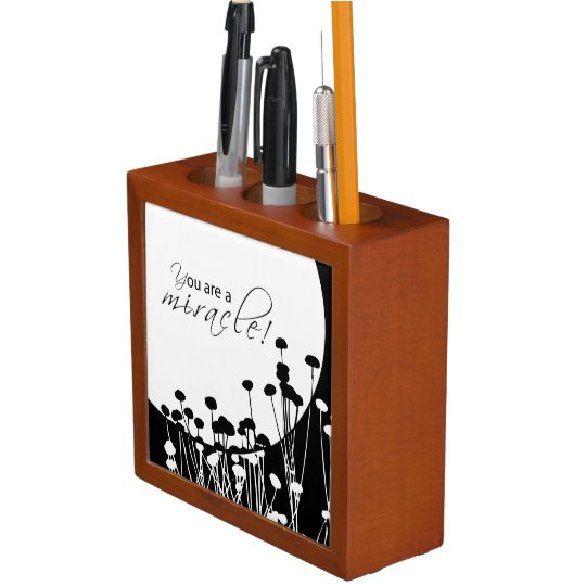 Recovery Miracle, Black and White Desk Organiser