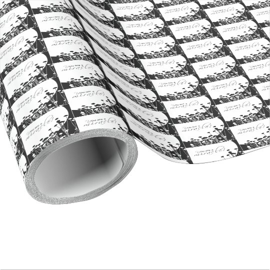 Recovery Miracle, Black and White Wrapping Paper
