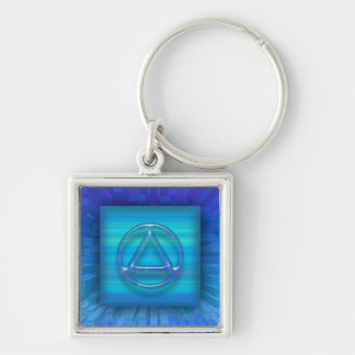 Recovery Sobriety Sober Keychain (Key Chain) Silver-Colored Square Keychain